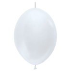 """Satin Link-O-Loon Solid White 405 Latex Balloons 12""""/30cm - 50 PC"""