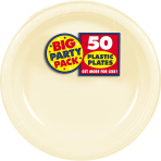 Vanilla Creme Plastic Plates 28cm - 6 PKG/50