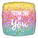 Thinking of You Dots Standard HX Foil Balloons S40 - 5 PC