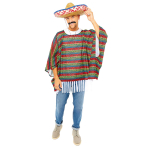 Mexican Bandit Poncho - One Size Fits All - 1 PC