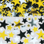 Gold/Black/Silver Metallic Stars Big Pack Confetti 70g - 12 PC