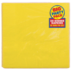 Sunshine Yellow Dinner Napkins 40cm 2ply - 12 PKG/50