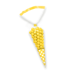 Sun Yellow Candy Buffet Cone Polka Dots Bags - 24 PKG/10