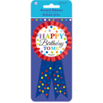 Bright Birthday Award Ribbons 15cm - 6 PC