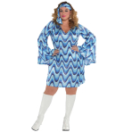 Disco Lady Costume - Plus Size 18-20 - 1 PC