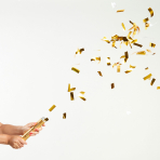 Metallic Gold Confetti Cannons 24cm - 12 PC