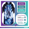 Neon Reaper Sustainable Costume - Age 8-10 Years - 1 PC