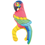 Pirates Treasure Inflatable Parrots 27.9cm - 6 PC