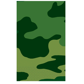 Camouflage Plastic Tablecovers - 6 PC