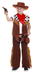 Boys Cowboy Far West Costume & Accessories - Age 3-5 years - 1 PC