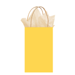 Sunshine Yellow Paper Gift Bags 21cm x 13cm x 9cm - 12 PC