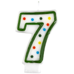 Polka Dot Birthday Candles Number 7 - 7.5cm - 12 PKG