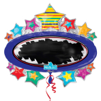 "Bright Star Blackboard Marquee SuperShape Write-On Foil Balloons 31""/78cm x 28""/71cm P38 - 5 PC"