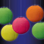 Neon Paper Mini Lanterns 12cm - 6 PKG/5