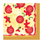 Pizza Party Luncheon Napkins 33cm - 12 PKG/16