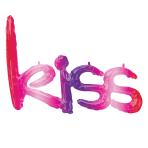 """Kiss Ombre Phrase Foil Balloons 27""""/68cm x 20""""/50cm G40 - 5 PC"""