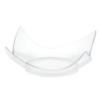 Barware Clear Mini Plastic Curved Plates 7.6cm - 12 PKG/10