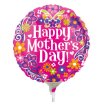 Mother's day Flower Swirls Air-Filled Foil Balloons A15 - 5 PC
