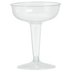 Clear Plastic Champagne Glasses 118ml - 9 PKG/32