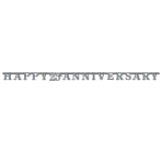 Sparkling Silver Anniversary Prismatic Letter Banners 3m x 17cm - 6 PC