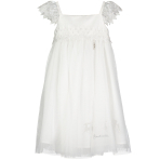 Cinderella White & Silver Lace Dress - Age 7-8 Years - 1 PC