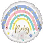 Pastel Rainbow Baby Standard HX Foil Balloons S40 - 5 PC
