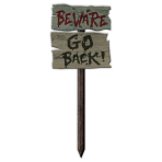 Beware Go Back MDF Garden Signs 54cm x 20cm - 24 PC