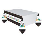 Retirement Plastic Tablecovers 1.37m x 2.59m - 6 PC