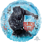 "Black Panther Jumbo Circle Foil Balloons 28""/71cm - 5 PC"