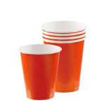 Orange Peel Paper Cups 266ml - 12 PKG/8