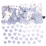 Sparkle Hearts Silver Metallic Confetti 14g - 12 PC
