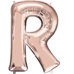 Letter R Rose Gold SuperShape Foil Balloons 23/58cm w x 32/81cm h P50 - 5 PC