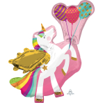 "Winged Unicorn SuperShape Foil Balloons 31""/78cm x 34""/86cm P35 - 5 PC"