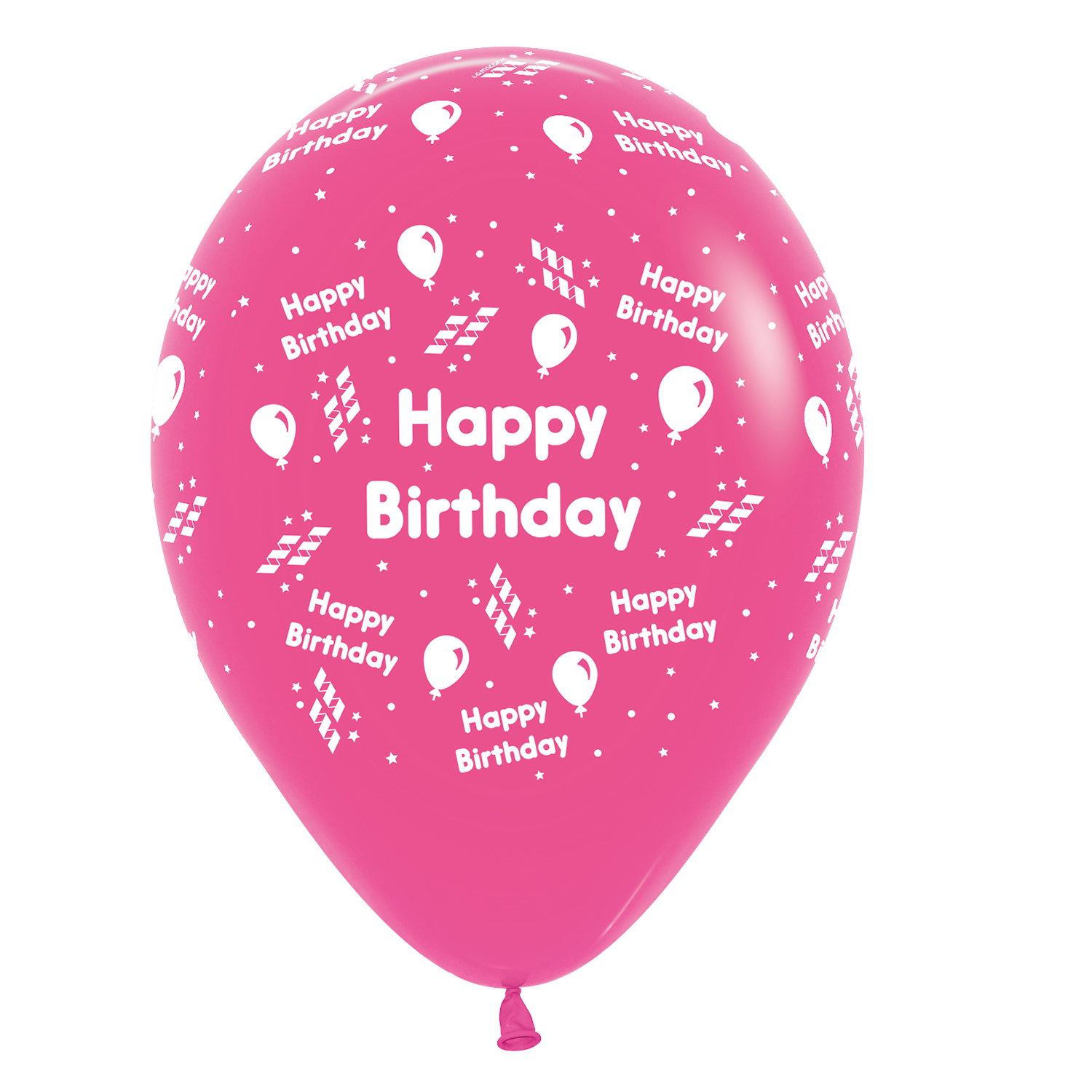 happy birthday streamer assorted colours latex balloons 1230cm 25 pc
