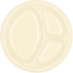 Vanilla Creme Plastic Divider Plates 26cm - 10 PKG/20