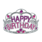 Happy Birthday Gem Tiaras - 6 PC