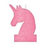 Magical Unicorn Glitter Candles 8cm x 13cm - 12 PC