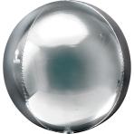 "Silver Orbz Packaged Foil Balloons 15""/38cm x 16""/40cm G20 - 5 PC"