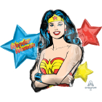 "Wonder Woman SuperShape XL Foil Balloons 33""/83cm x 26""/66cm P38 - 5 PC"
