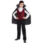 Teens Dark Vampire Costume - Age 12-14 Years - 1 PC