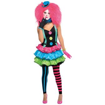 Teens Cool Clown Costume - Age 10-12 Years - 1 PC