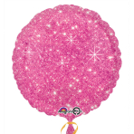 Faux Sparkle Hot Pink Standard Unpackaged Foil Balloons S30 - 10 PC