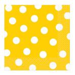 Sunshine Yellow Dots Luncheon Napkins 33cm - 12 PKG/16
