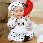 Disney 101 Dalmatians Patch All-In-One Romper with Feature Hat - Age 18-24 Months - 1 PC