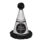 Black/Silver Marabou Hats 33cm - 12 PC