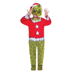 The Grinch Costume - Age 8-10 Years - 1 PC