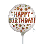 Satin Infused Birthday Sequins Mini Balloon A15 - 5 PC