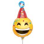 Birthday Emoticon Mini Shape Foil Balloons A30 - 5 PC