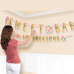 Floral Baby Combo Letter Banners - 6 PKG/2