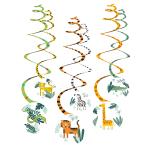 Get Wild Swirl Decorations - 6 PKG/6